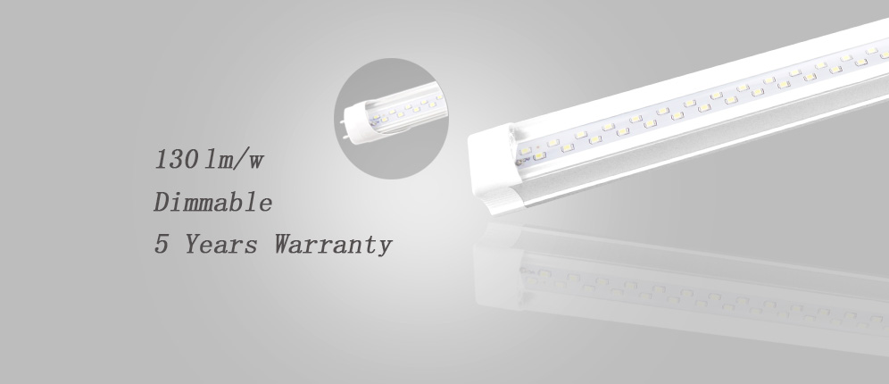 LED T8 TUBE LIGHT WITH 130LM/W